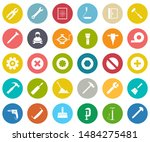 repair tools icons set  ...