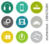 devices icons set ... | Shutterstock .eps vector #1484276384