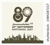 saudi arabia national day.... | Shutterstock .eps vector #1484287217