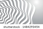 abstract wave. white stripes.... | Shutterstock .eps vector #1484293454