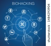 biohacking concept  blue...   Shutterstock .eps vector #1484293904