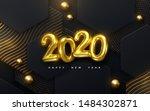 happy new 2020 year. vector... | Shutterstock .eps vector #1484302871
