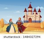 medieval characters cartoon... | Shutterstock .eps vector #1484327294