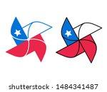 cartoon pinwheel icon with...   Shutterstock .eps vector #1484341487