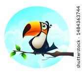 vector cartoon illustration... | Shutterstock .eps vector #1484363744