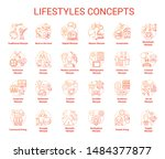 lifestyles red concepts icons... | Shutterstock .eps vector #1484377877