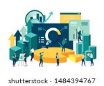 illustration of a business ... | Shutterstock .eps vector #1484394767
