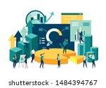illustration of a business ... | Shutterstock .eps vector #1484394767