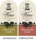 vector set of two labels for... | Shutterstock .eps vector #1484412944