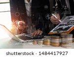 businessman and woman... | Shutterstock . vector #1484417927