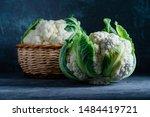 Ripe Cauliflower On A Dark...