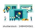 vector flat illustration. a...   Shutterstock .eps vector #1484434361