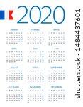calendar 2020 year   vector...   Shutterstock .eps vector #1484437601