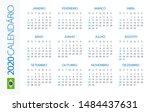 calendar 2020 year horizontal   ... | Shutterstock .eps vector #1484437631