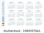 calendar 2020 year horizontal   ... | Shutterstock .eps vector #1484437661