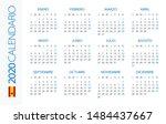 calendar 2020 year horizontal   ... | Shutterstock .eps vector #1484437667
