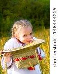 pretty  little girls with a... | Shutterstock . vector #148444259