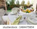 richly decorated banquet table... | Shutterstock . vector #1484475854