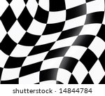 black and white checked racing... | Shutterstock .eps vector #14844784