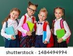 Funny Happy Group Children  ...
