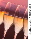 close up glasses of champagne...   Shutterstock . vector #148453421