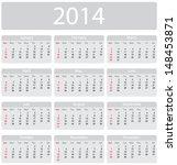minimalistic 2014 calendar  ...   Shutterstock .eps vector #148453871