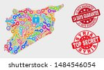 safeguard syria map and seal... | Shutterstock .eps vector #1484546054