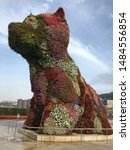Stock photo the puppy statue in front of the guggenheim museum in bilbao 1484556854