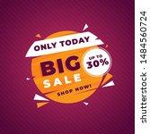 sale banner template design ... | Shutterstock .eps vector #1484560724