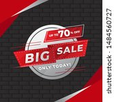 sale banner template design ... | Shutterstock .eps vector #1484560727