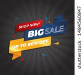 sale banner template design ... | Shutterstock .eps vector #1484560847
