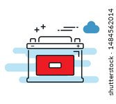 car battery icon isolated on...   Shutterstock .eps vector #1484562014