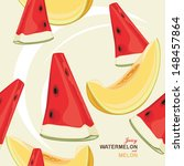 seamless background with juicy... | Shutterstock .eps vector #148457864
