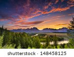 Colorful Sunset At Snake River...