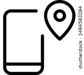 cell phone with location pin...   Shutterstock .eps vector #1484583284