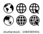 set of go to web icon vector | Shutterstock .eps vector #1484585441
