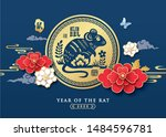 2020 chinese new year  year of... | Shutterstock .eps vector #1484596781