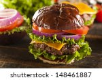 Gourmet Cheese Burger On A...