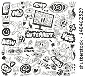 web  internet  computers doodles | Shutterstock .eps vector #148462529