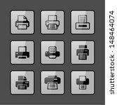 print icon set | Shutterstock .eps vector #148464074