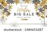 winter poster with golden... | Shutterstock .eps vector #1484651087