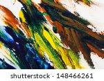 colorful oil paint palette  | Shutterstock . vector #148466261