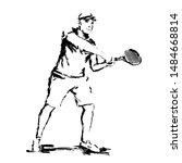 man tennis player vector...   Shutterstock .eps vector #1484668814
