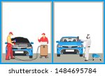 paint car and computer... | Shutterstock . vector #1484695784