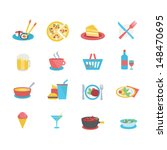 food icons   flat style | Shutterstock .eps vector #148470695