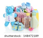baby accessories isolated on... | Shutterstock . vector #148472189