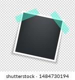 photo frame. square polaroid... | Shutterstock .eps vector #1484730194