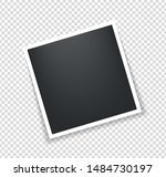 photo frame. square polaroid... | Shutterstock .eps vector #1484730197