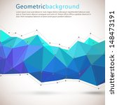geometrical abstract background.... | Shutterstock .eps vector #148473191