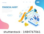 isometric web business concept... | Shutterstock .eps vector #1484767061